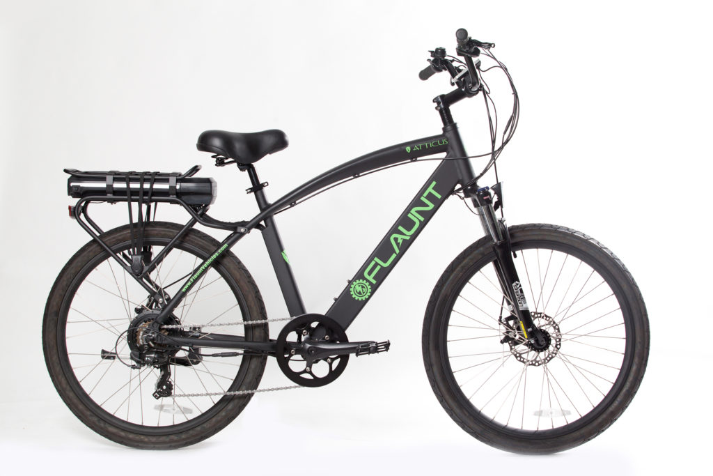 FLAUNT'S electric bicycles are a stylish and performance-based, eco-friendly transportation option. Powered by a 15.6 Amp Samsung Battery, FLAUNT eBikes ...